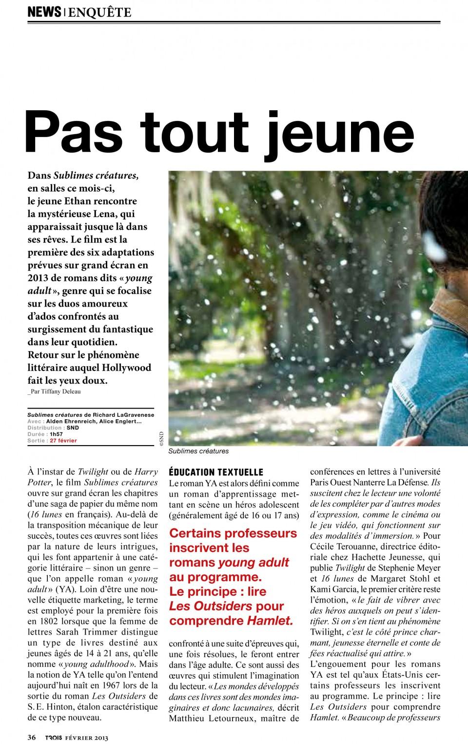 News - Enquête - Phénomène des romans Young Adult 1