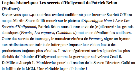 Les Secrets d'Hollywood GQ