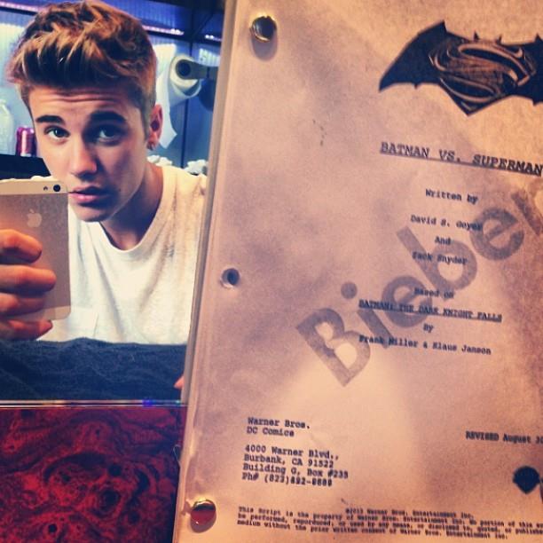 Justin Bieber-Man of Steel 2-Batman