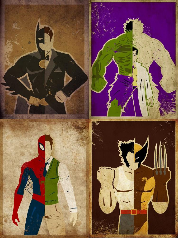 ArtofDanny-Batman-Hulk-Spiderman-Wolverine
