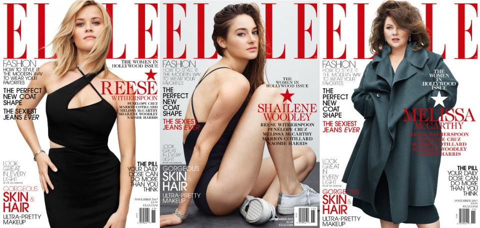 Elle-Reese Witherspoon-Shailene Woodley-Melissa McCarthy