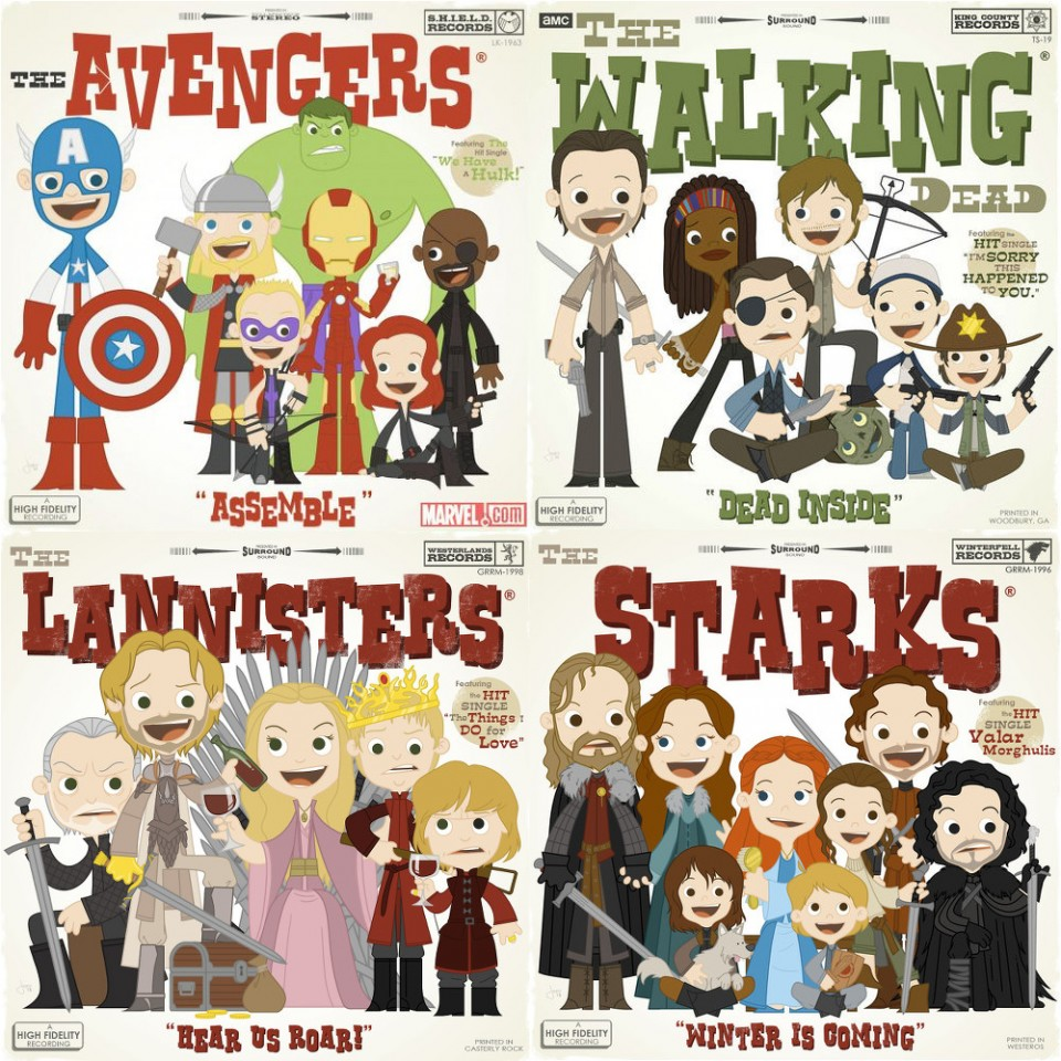 Joey Spiotto-Avengers-Game of Thrones-The Walking Dead
