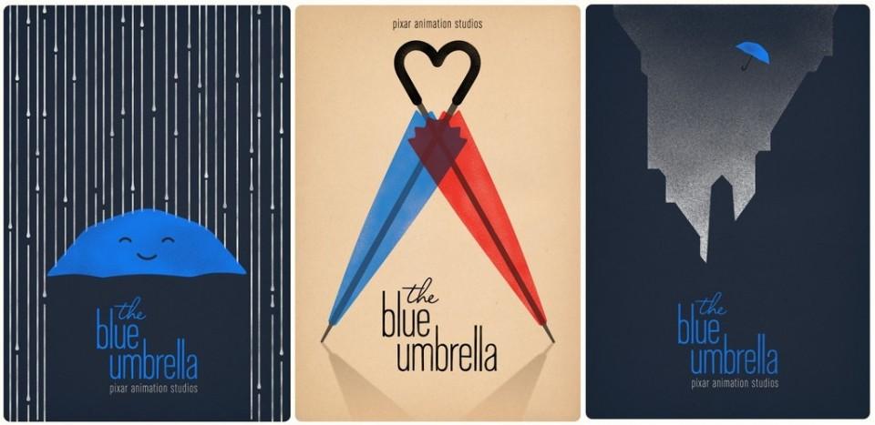Le parapluie bleu