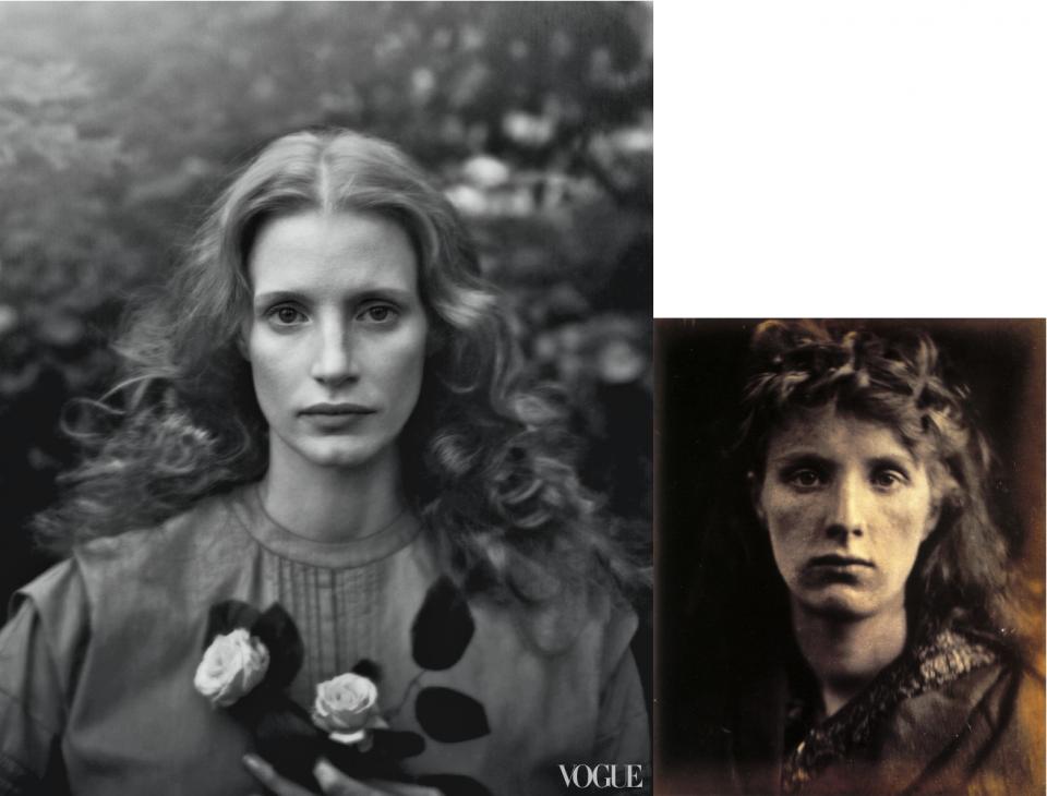 Jessica Chastain-Vogue-Julia Margaret Cameron