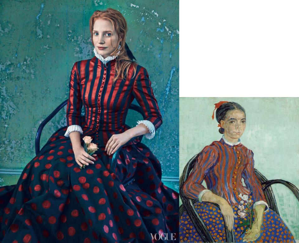 Jessica Chastain-Vogue-La Mousmé-Vincent Van Gogh