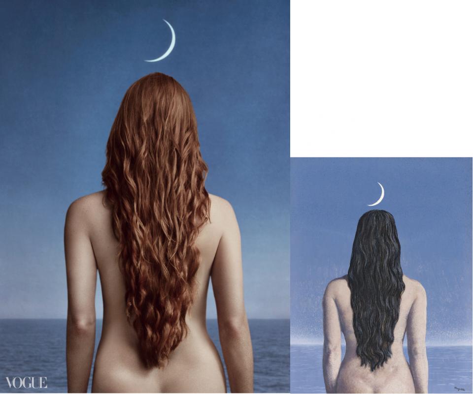 Jessica Chastain-Vogue-La robe du soir-René Magritte