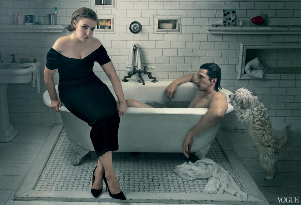Lena Dunham-Adam Driver-Vogue
