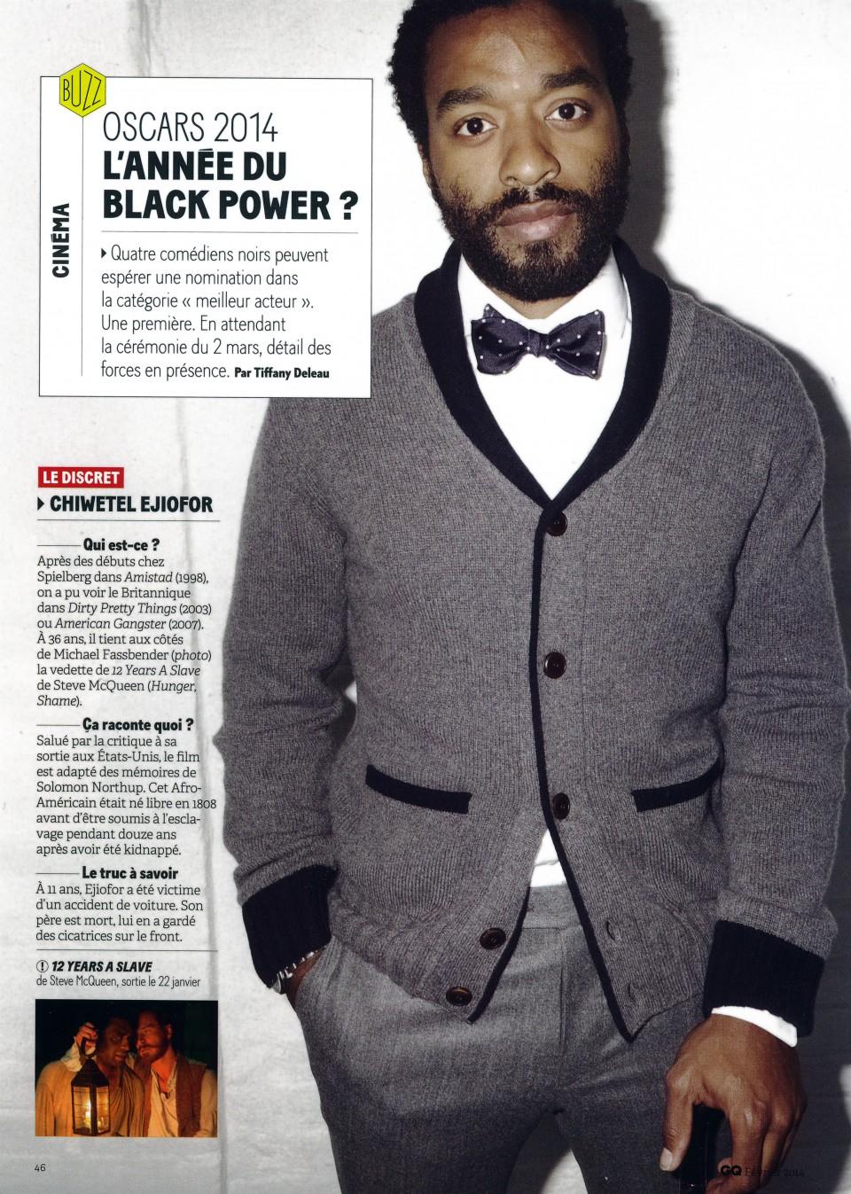 Oscars 2014 - L'Année du Black Power ?1