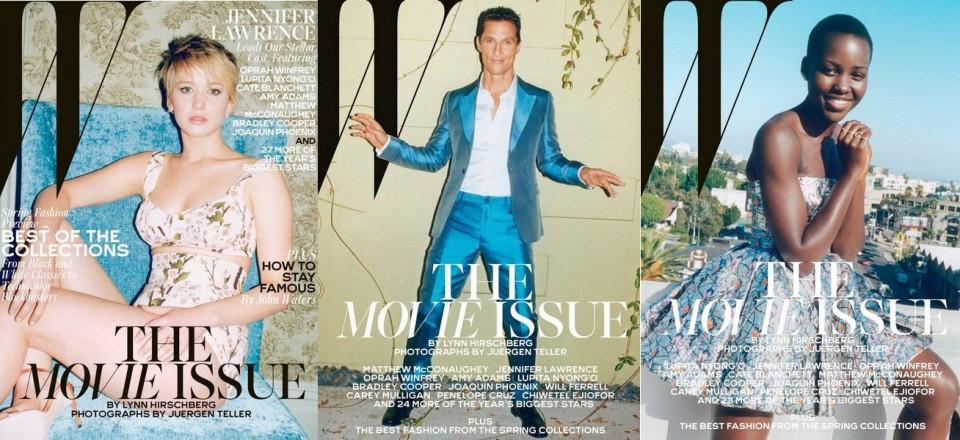 W Magazine-Jennifer Lawrence-Matthew McConaughey-Lupita Nyong'o