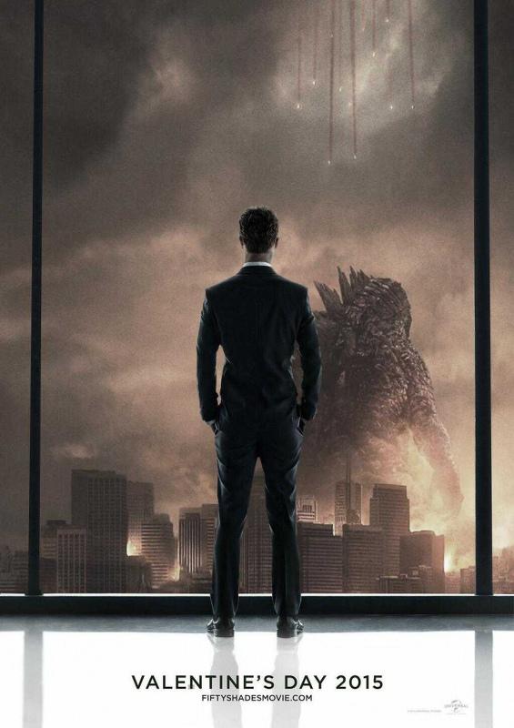 50 Nuances de Grey-Christian Grey-Godzilla