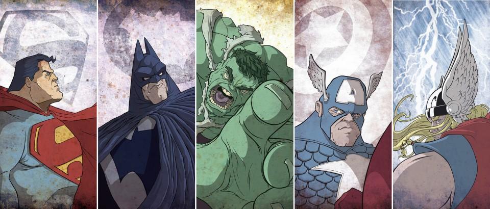 Dave Merrell-Batman-Superman-Thor-Hulk-Captain America