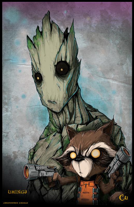 Les Gardiens de la Galaxie-Rocket Raccoon et Groot-Christopher Uminga