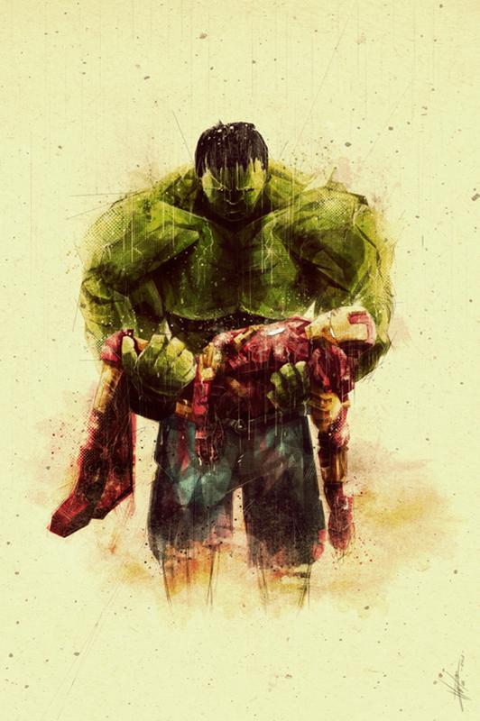 Marie Bergeron-Iron Man-Hulk