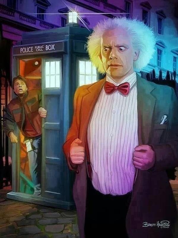Retour vers le futur-Doctor Who-Brett Hardin