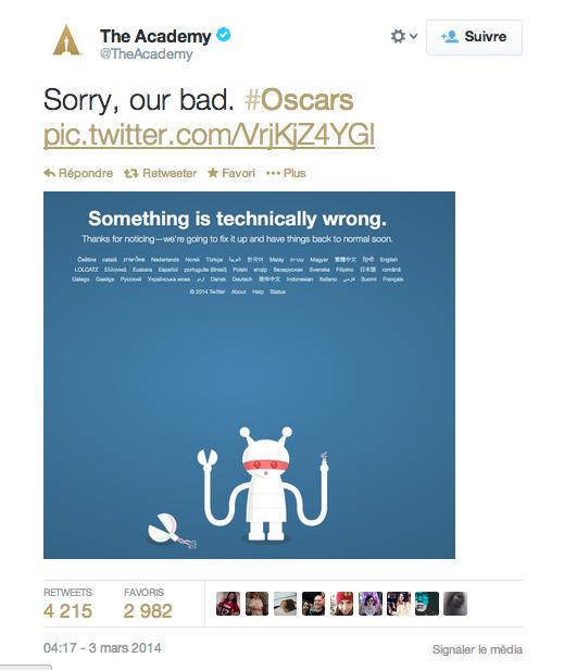 Academy Awards Twitter