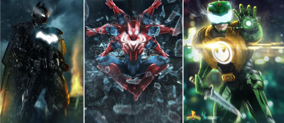 Boss Logic-Iron Man-Spider-Man-Batman-Powar Ranger