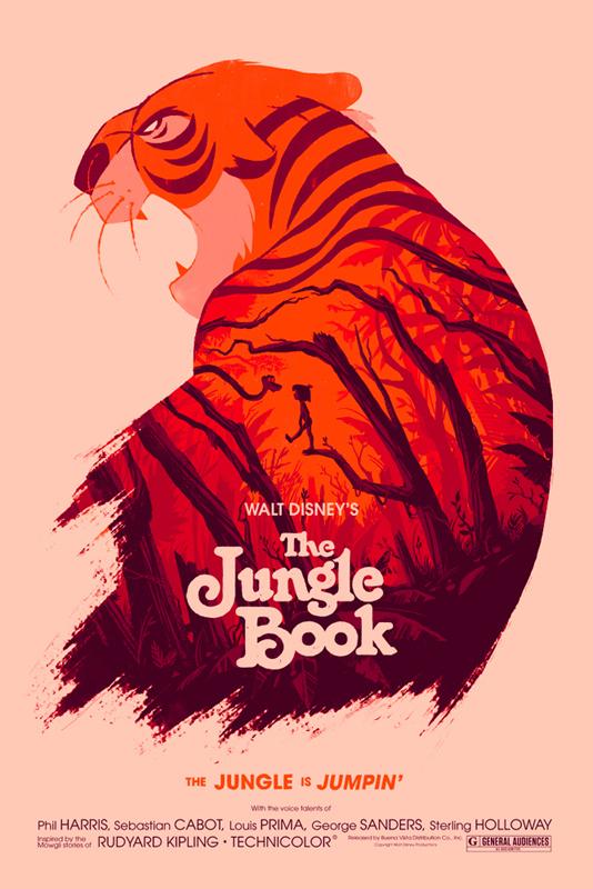 Olly Moss-Le livre de la jungle