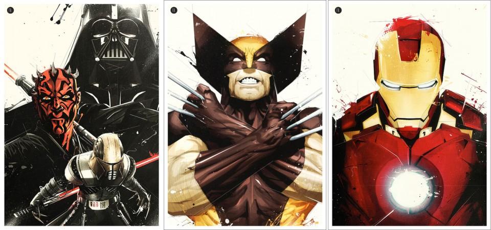 Florent Belmonte-Star Wars-Wolverine-Iron Man