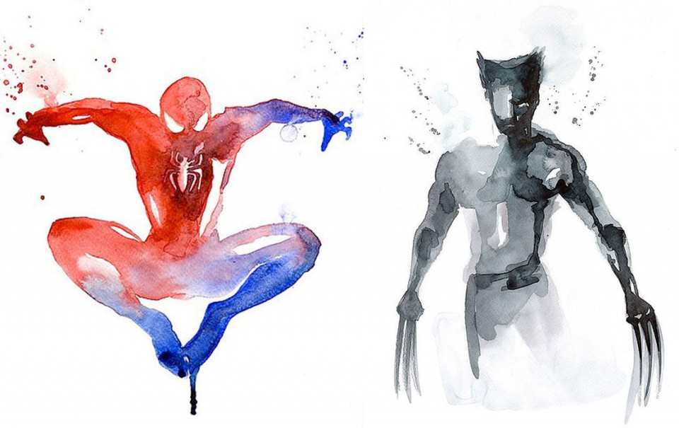 Blule-Spider-Man-Wolverine