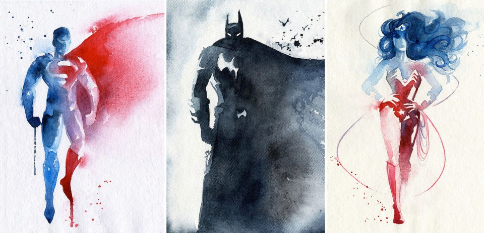 Blule-Superman-Batman-Wonderman