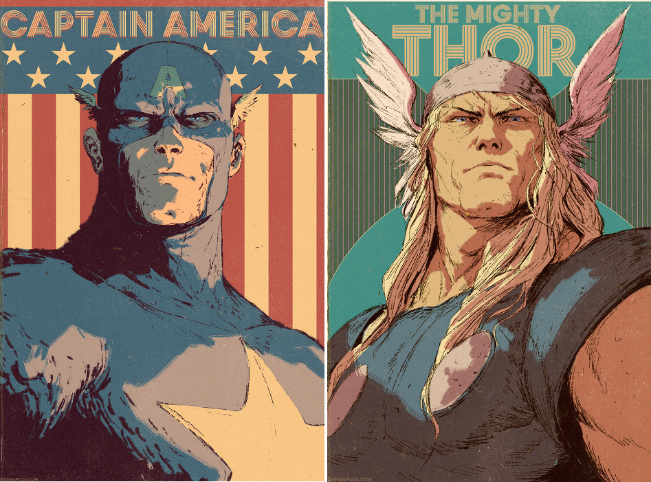 Dave Rapoza-Captain America-Thor