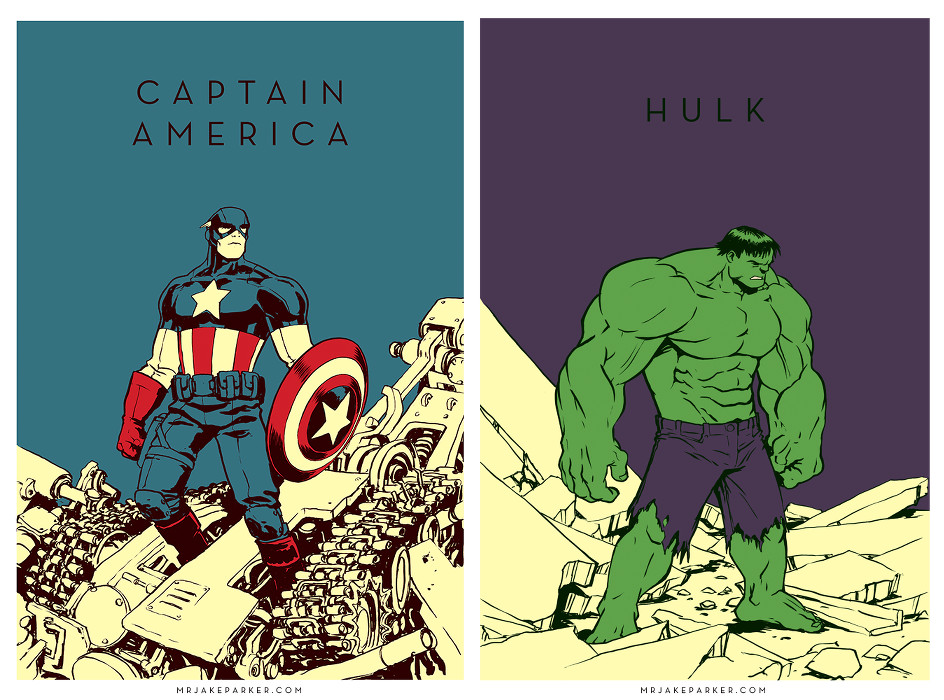 Jake Parker-Captain America-Hulk