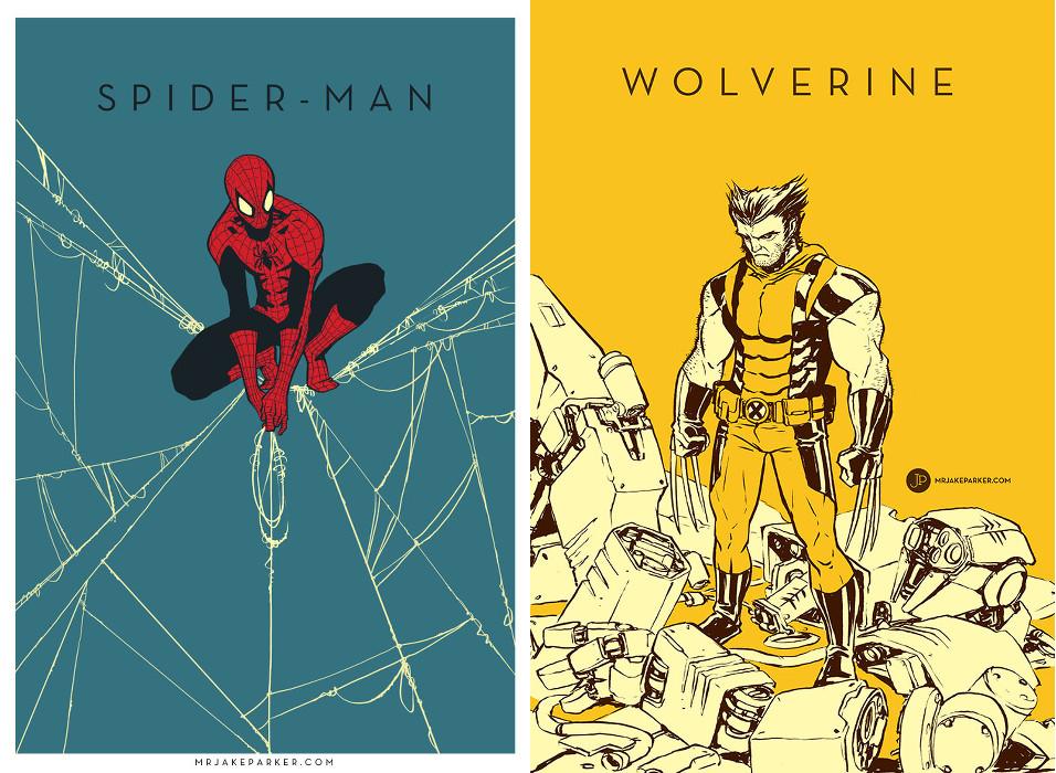 Jake Parker-Spider-Man-Wolverine