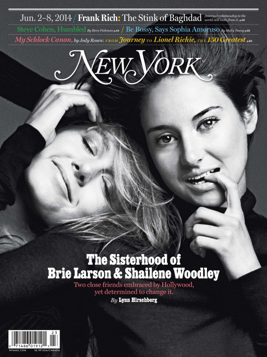 Shailene Woodley-Brie Larson-New York Magazine