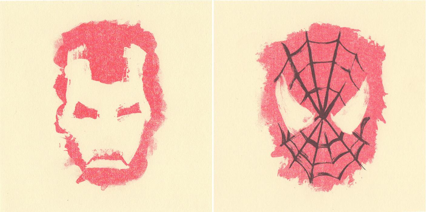 iron man-spiderman