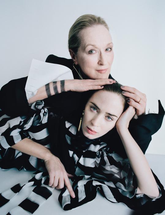 W Magazine - Meryl Streep-Emily Blunt