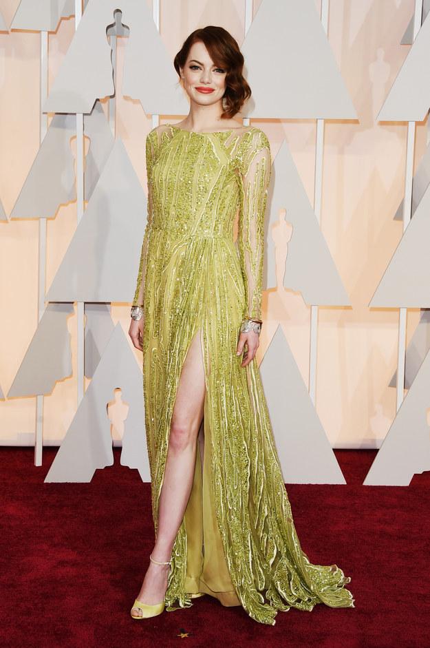 Oscars-Emma Stone