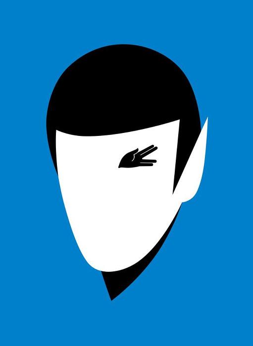 Spock - Leonardo Nimoy - Noma Bar