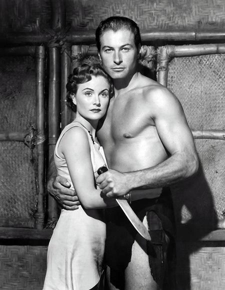 1951 Lex Barker & Virginia Huston in Tarzan's Peril